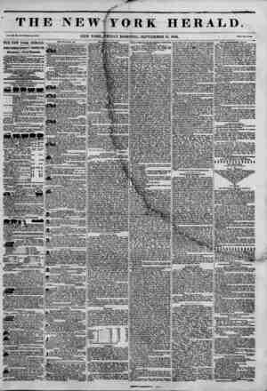 TH] Val. Jill. > . N*. ?4M. THE TOW YORK HERALD. JAMES GORDON BENNETT PROPRIETOR. Circulation---Forty Thousand, DAILY HUH...
