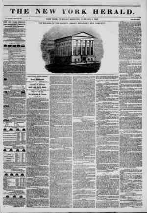 THJ Vol. .Kill, No. 4-Whalt No. 4001 ' THE NEW YORKITERALD. JAMES GORDON BENNETT, PROPRIETOR. Circulation?Forty Thousand....