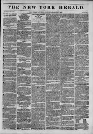 f m II 1 I IIJ *?i. XIII, ?. S3 -Whale THE ISEW YORK HERALIX JAMES GORDON BENNETT, PROPRIETOR. Circulation---Forty Thousand.