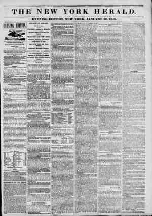 . . ... ? si T H mm New York, January 19?4 P. BI. BY SAQNBTIC TKLECRAPH. Burglar bbot. Albany, Jan. 19, 1848. A man named...
