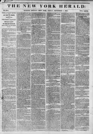 ' r - ' TH NO. 5204. THE LATEST NEWS FROM ALL PARTS OF EUROPE, BY THE ARRIVAL OF THE STEAMSHIP NIAGARAIMPORTANT. TILL...