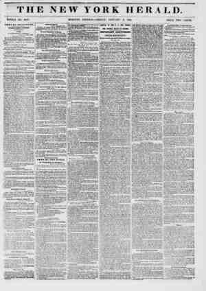 THE NEW WHOLE NO. 6047. MORNING YORK HERALD. EDITION ? FRIDAY, JANUARY 3, 1851. PRICE TWO CENTS. !SBW8 BY TBIiHOR APHi...