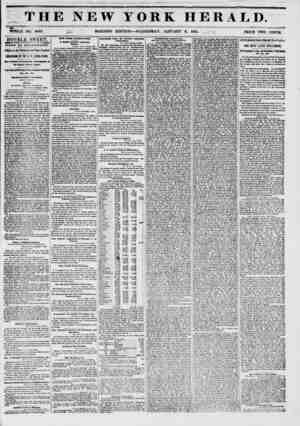 THE NEW YORK HERALD. r- > - s WHOLE NO. 6052. MORNING EDITION ? WEDNESDAY, JANUARY 8, 1851. , , PRICE TWO CENTS. DOUBLE...