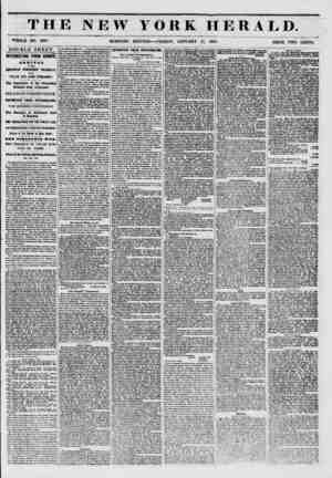 THE NEW YORK HERALD. WHOLE NO. 6061. MORNING EDITION- ? FRIDAY, JANUARY 17, 1851. ? PRICE TWO CENTS. DOUBLE SHEET....
