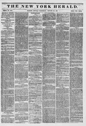 """THE NEW YORK HERALD."""" ?- """" ' '***"""" y, ???*. H.. . . . WWW*. """"?? WHOLE NO. 6073. MORNING EDITION ? WEDNESDAY, JANUARY 29,..."""
