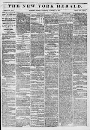 """ THE NEW TORi HERA 1. 1). ? - ""v, ~ V **""* WHOLE NO. 6D74. MORNfNG EDITION-? THURSDAY, JANUARY 30, 1851. PRICE TWO CENTS."