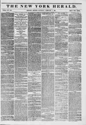 THE NEW YORK HERALD. WHOLE NO. 6076. MORNING EDITION ? SATURDAY, FEBRUARY 1, 1851. PRICE TWO CENTS. SHIPPING. ?0E LIVERPOOL.?