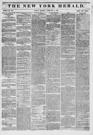 """' Til E NEW YORK HERALD;' ? ??*' \ \ """"1 fc ?<>. i m - T ? f^iii WHOLE NO. 6077. N SUNDAY MORNING, FEBRUARY 2, 1851. . pRICE"""