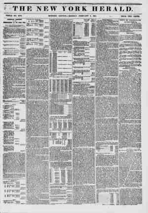? ? ? THE NEW YORK HERALD. WHOLE NO. 60T8. MORNING EDITION ? MONDAY, FEBRUART 3, 1851. ;? , PRICE TWO CENTS. AimVAJt REPORT