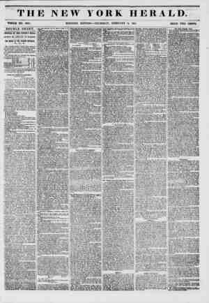 THE NEW Y WHOLE NO. 6081. MORNING EDITION ORK HERALD. -THURSDAY, FEBRUARY 6, 1851. PRICE TWO CENTS. DOUBLE SHEET. ARRIVAL OF