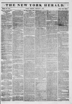 THE NEW YORK HERALD. WHOLE NO. 6084. SUNDAY MORNING, FEBRUARY 9, 1851. PRICE TWO CENTS. MEWS BY TELEGRAPH1 THIRVY-FimST...
