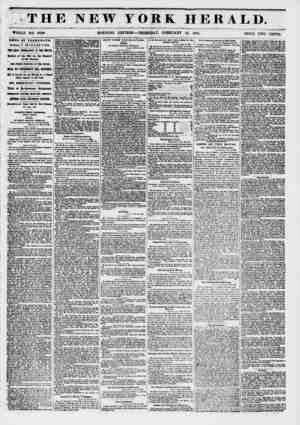 THE NEW YORK HERALD. **?? : % ? ? . .. - - 1 ?-% WHOLE NO. 6088. MORNING EDITION ? THURSDAY, FEBRUARY 13, 1851. PRICE TWO...