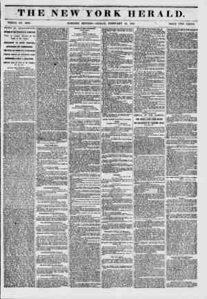 """THE NEW YORK HERALD. - % .??? ? i -""""?? WHOLE NO. 6089. MORNING EDITION? FRIDAY, FEBRUARY 14, 1851 '? PRICE TWO CENTS. w ? W S"""
