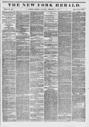 THE NEW YORK HERALD. ? ??, 1 !?. ?A* WHOLE NO. 6090. _* MORNING EDITION ? SATURDAY, FEBRUARY 15, 1851. >' (I PRICE TWO CENTS.