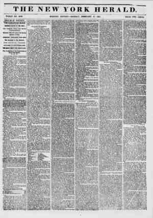 THE NEW YORK HERALD. WHOLE NO. 6092. MORNING EDITION ? MONDAY, FEBRUARY 17, 1881. PRICE TWO CENTS. DOUBLE SHEET. THE EUROPEAN