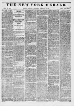 THE NEW YORK WHOLE NO. 6094. MORNING EDITION ? WEDNESDAY, FEBRUARY HERALD. i 19, 1351. ?* PRICE TWO CENTS DOUBLE SHEET. rOK