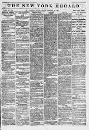 THE NEW YORK HERALD. WHOLE NO. 6096. PRICE TWO CENTO. DOUBLE SHEET. NEWS BY TELEORiPH, VHIRTT-riRflr CONORBR8. SECOND...