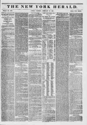 """""""THE NEW YORK WHOLE NO. 6098. SUNDAY MORNING, FEBRUARY 23, HERALD. 1851. ? PRICE TWO CENTS. NEWS BY TERROR A PII. THE NEWS"""
