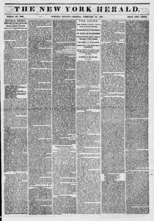 THE NEW YORK HERALD. ? #<*' WHOLE NO. 6099. M* MORNING EDITION ? MONDAY, FEBRUARY 24, 1851. PRICE TWO CENTS. DOUBLE SHEET.