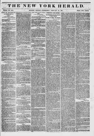 THE NEW YORK HERALD. WHOLE NO. 670 1. ' MORNING EDITION? -WEDNESDAY, FEBRUARY 26, 1851. ... PRICE TWO CENTO. JNEWS BY...