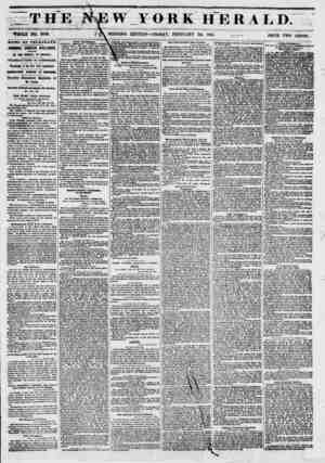 THE WHOLE NO. 6703. MORNING Y ORRHERAL D. EDITION ? FRIDAY, FEBRUARY 28, 1851. ,4 PRICE TWO CENTS. ?NEWS BY TELEGRAPH....