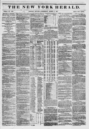 ; THE NEW YORK HERALD. WHOLE NO. 6703. } {\ MORNING EDITION-? WEDNESDAY, MARCH 5, 1851. . PRICE TWO CENTS. DOUBLE SHEET. TBI