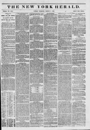 THE NEW YORK HERALD. WHOLE NO. 6712. SUNDAY MORNING, MARCH 9, 1851. ~ PRICE TWO CENTS. ARRIVAL OF THE EMPIRE CITY AND...