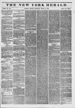 THE NEW YORK HERALD. WHOLE NO. 6716. MORNING EDITION ? THURSDAY, MARCH 13, 1851, PRICE TWO CENTS. NEWS BY TELEGRAPH. AFFAIRS