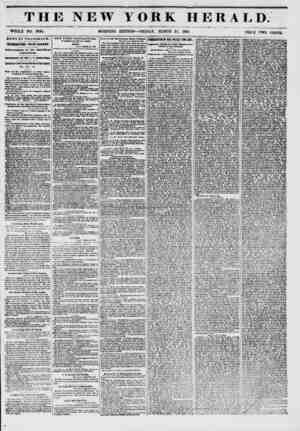THE NEW r MORNING YORK HERALD. EDITION ? FRIDAY, MARCH 21, 1851. - PRICE TWO CENTS. NEWS BY TELEGRAPH. INTERESTING FROM...
