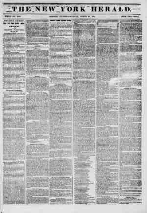 9 THETNEW YORK herald. WHOLE NO. 6728. DOUBLE SHEET. VERY LATE FROM CENTRAL AMERICA. AKklTAL OF THE STEAMSHIP PROMETHEUS,...