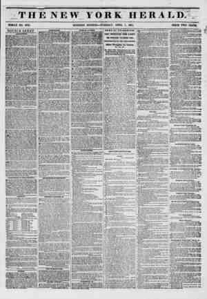 : THE NEW YORK HEIIALI). WHOLE NO. 673S. MORNING EDITION? TUESDAY, APRIL 1, 1851. PRICE TWO CENTSC DOUBLE SHEET. AMlHKMSJfTS.