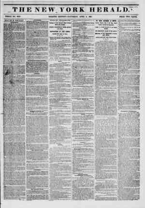 """THE NEW YORK HERALD."""" WHOLE NO. 6739. DOUBLE SHEET. AMUSKMSffTS. Bowery theatre.? boxes, m cents; pit ijh cents.? Door* op?n"""