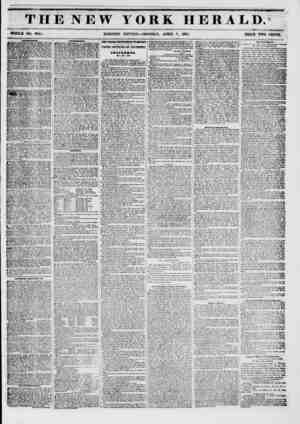 """THE NEW YORK II Kit A 1,1). WHOLE NO. #741. MORNING EDITION ? MONDAY, APRIL T, 1851. PRICE TWO CENTS,"""" AKVUHKHTa. BOWERY..."""