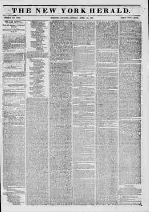 THE NEW YORK HERALD. WHOLE NO. 6748. MORNING EDITION?MONDAY, APRIL 14, 1851. PRICE TWO CENTS. THE CLAY FESTIVAL....
