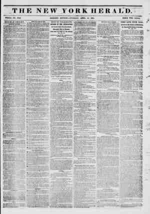 THE NEW YORK HERALD. ?* ? i WHOLE NO. 6T49. MORNING EDITION?TUESDAY, APRIL 15, 1851. PRICE TWO CENTS. ' DOUBLE SHEET. 9ALBB