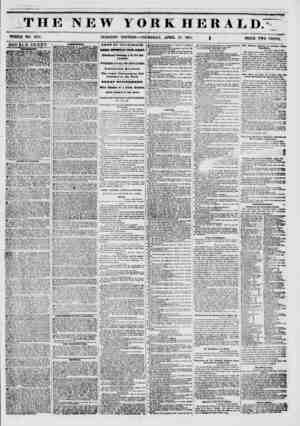 ? ????*???>* ,r> THE NEW YORK HERALD. ?ft-. WHOLE NO. 6751. MORNING EDITION?THURSDAY, APRIL 17, 1851. ~ g PRICE TWO CENTS.