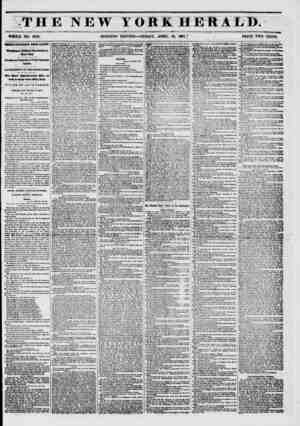 THE NEW YOREHERALD. WHOLE NO. 6752. MORNING EDITION?FRIDAY, APRIL 18, 1861.] PRICE TWO CENTS. OKHLT IMPORTANT FROM ALBANY*