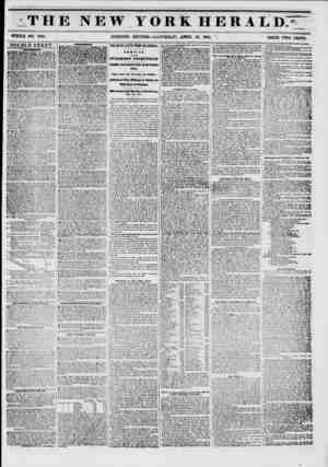 THE NEW YORK HERALD7 WHOLE NO. 6753. MORNING EDITION?SATURDAY, APRIL 19, 1851. ? PRICE TWO CENTS. DOUBLE SHEET. ABVaUUHTk...