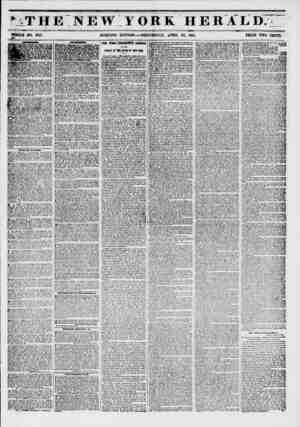 ?j-w- -y.v '.ut.--*1 < ? >THE NEW YORK HERALD. WHOLE NO. 6757. MORNING EDITION WEDNESDAY, APRIL 23, 1851. PRICE TWO CENTS.
