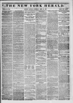 '?THE NEW YORK HERALD. V WHOLE NO. 8756. MORNING EDITION THURSDAY, APRIL 24, 1851. PRICE TWO CENTS. DOUBLE SHEET. 0ALBB MY