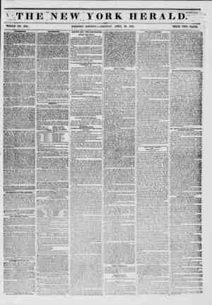 \ THE NEW YORK HERALD. WHOLE NO. 6761, MORNING EDITION MONDAY, APRIL 28, 1851. PRICE TWO CENTS. uroi?im ___ BO WERT...