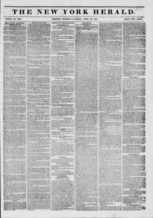 THE NEW YORK HERALD. t- * ? 1 WHOLE NO. 6T62. MORNING EDITION TUESDAY, APRIL 29, 1851. PRICE TWO CENTS. DOUBLE SHEET. ?ALBS