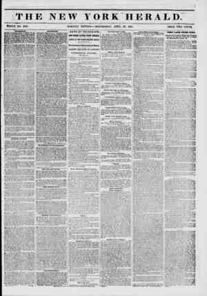 THE NEW YORK HERALD. WHOLE NO. 6763. MORNING EDITION WEDNESDAY, APRIL 30, 1851. PRICE TWO CENTS. N auvmbkntb. BOWERY...