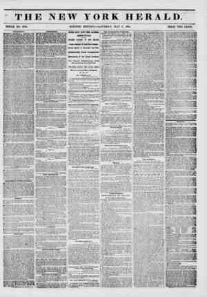 fit THE NEW YORK HERALD. WHOLE NO. 6766. ? MORNING EDITION SATURDAY, MAY 3, 1851. PRICE TWO CENTS. AMimKMKNTM. pROADWAT...