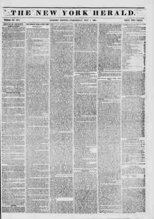. ^ THE NEW YORK HERAED. >? tk-jy ->%?.? WHOLE NO. 6770. MORNING EDITION?WEDNESDAY, MAY 7, 1851. PRICE TWO CENTS. DOUBLE...