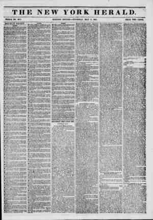 THE NEW YORK HERALD. -tS... I WHOLE NO. 6TT1. MORNING EDITION?THURSDAY, MAY 8, 1851. PRICE TWO CENTS. DOUBLE SHEET. WANTS.