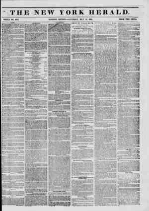 f THE NEW YORK HERALD. WHOLE NO. 6773. MORNING EDITION?SATURDAY, MAY 10, 1851. PRICE TWO CENTS. WAIr^,? ^ WANTBD-A FEMMB...