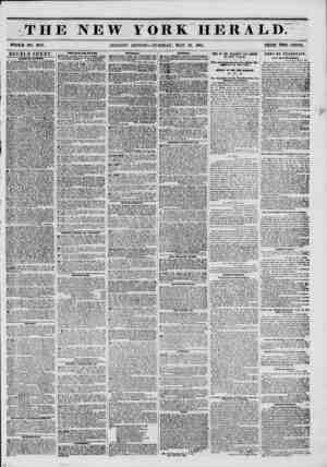 THE NEW YORK HERALD. WHOLE NO. 677G. MORNING EDITION?-TUESDAY, MAY 13, 1851. PRICE TWO CENTS. DOUBLE SHEET. ?AIsJDi~BY...