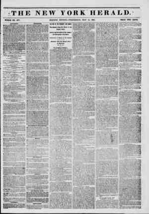 THE NEW YORK HERALD. WHOLE NO. em. MORNING EDITION?WEDNESDAY, MAY 14, 1851. PRICE TWO CENTS. AWUSKMKWTM. JOWERY...