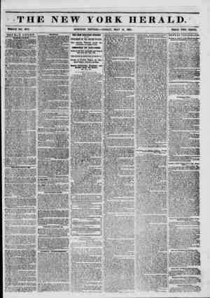 * THE NEW YORK HERALD. WHOLE NO. #779. MORNING EDITION?FRIDAY, MAY 16, 1861. PRICE TWO CENTS. DOUBLE SHEET-. IAUU n AOCTIWI.